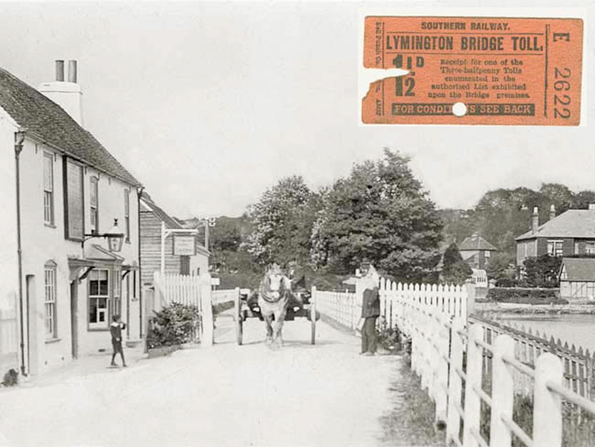 1907 Tollbridge and Ticket